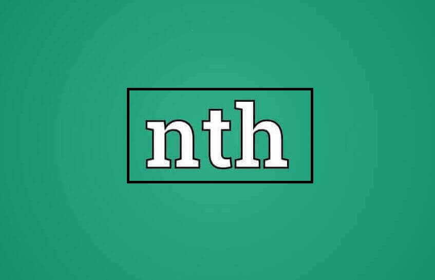 Nth meaning in texting