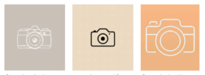 camera icons from pinterest